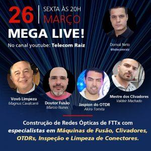 Imagem Destaque da Notícia Profiber: Mega Live! dia 26 às 20hs no canal Telecom Raiz